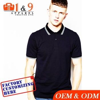 Men polo t shirt 100% cotton custom embroidery logo dri fit latest