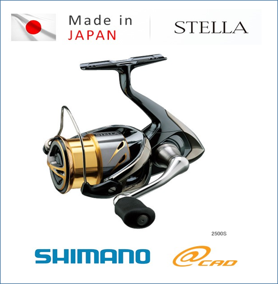 STELLA 2500S, Japanese high quality pinnacle spinning fish reel with smooth rotation