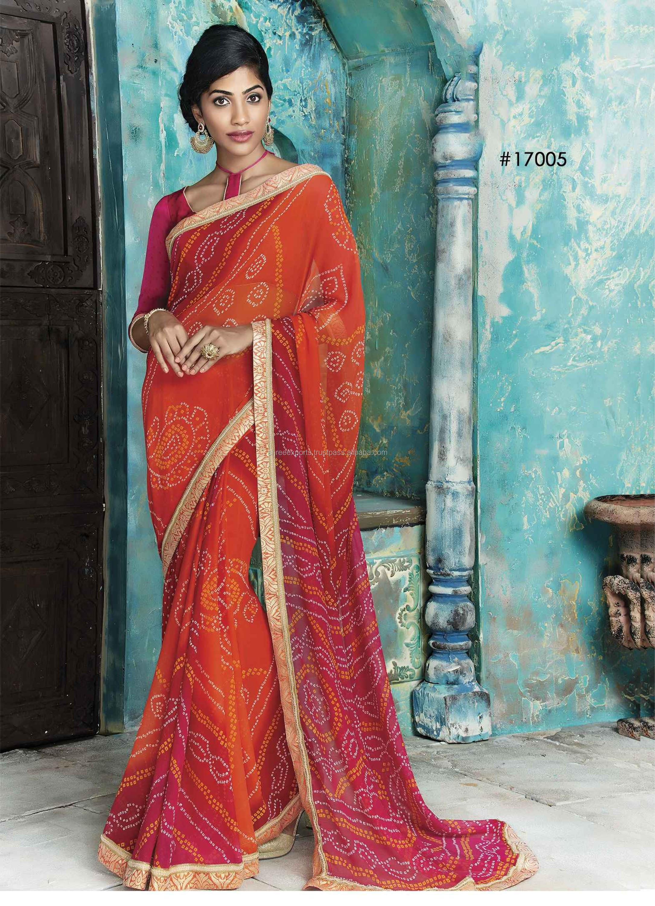 Red Georgette Designer Saree / Sarees Online Shopping / Online Shopping Of Sarees / Sarees For Online Shopping
