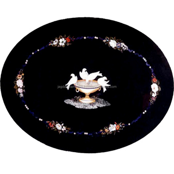 Marble Table Top pietra dura Lapis Inlay Art