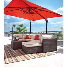 100 % Polyester Canvas Waterproof Outdoor Garden Sun Umbrella Fabric