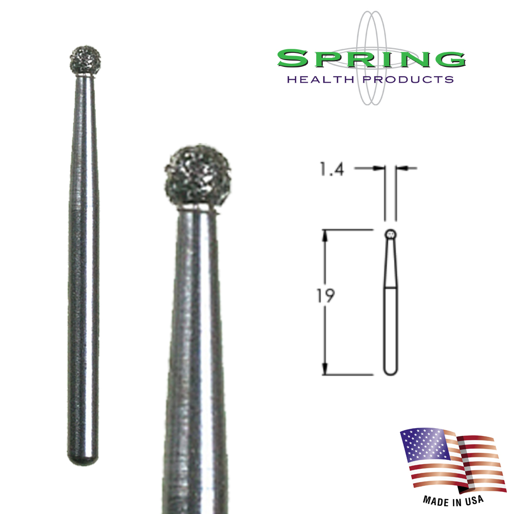 Spring FG 120 Round Coarse Grit Diamond Dental Bur