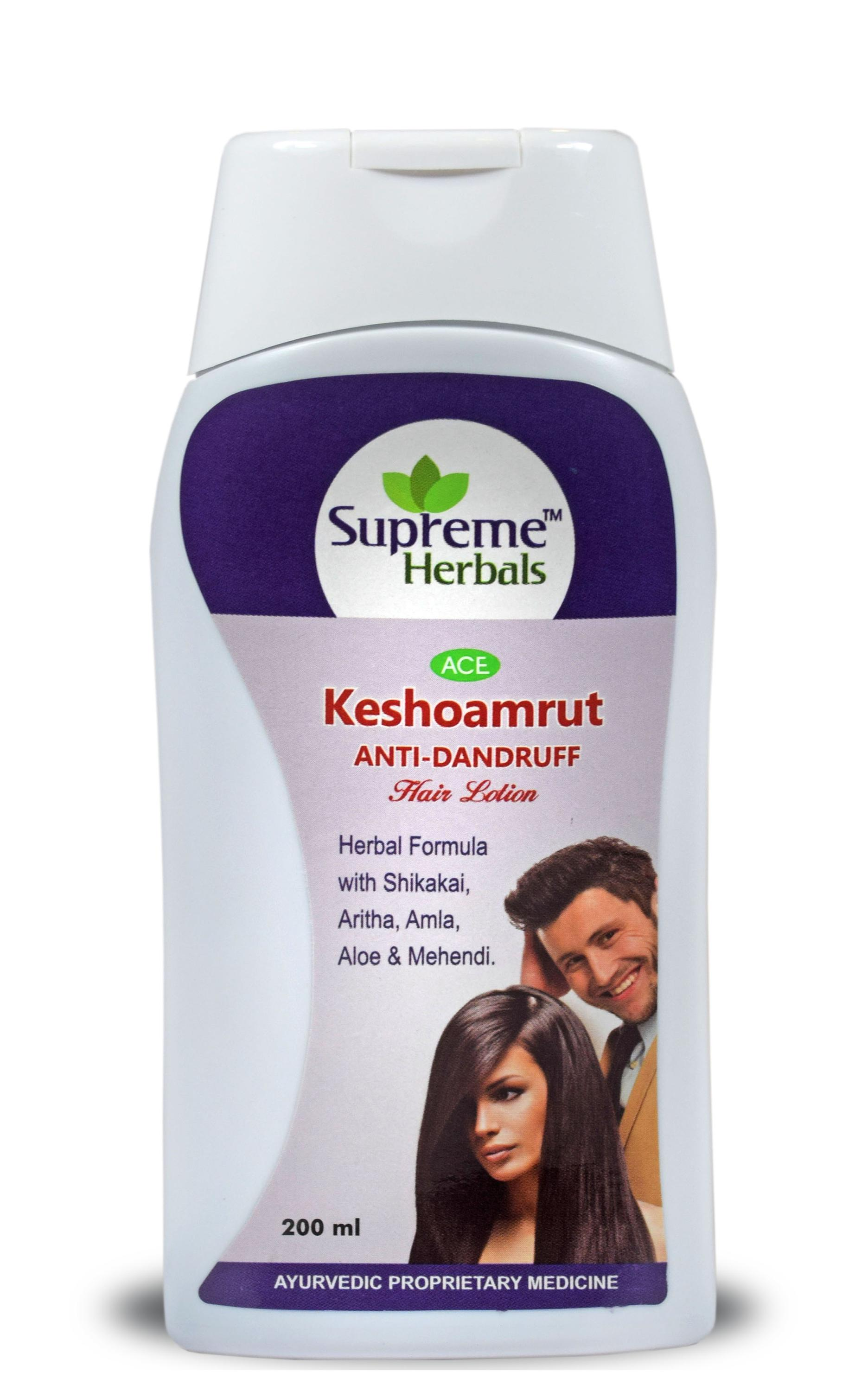 Keshoamrut Herbal Hair Lotion with Shikakai & Amla.