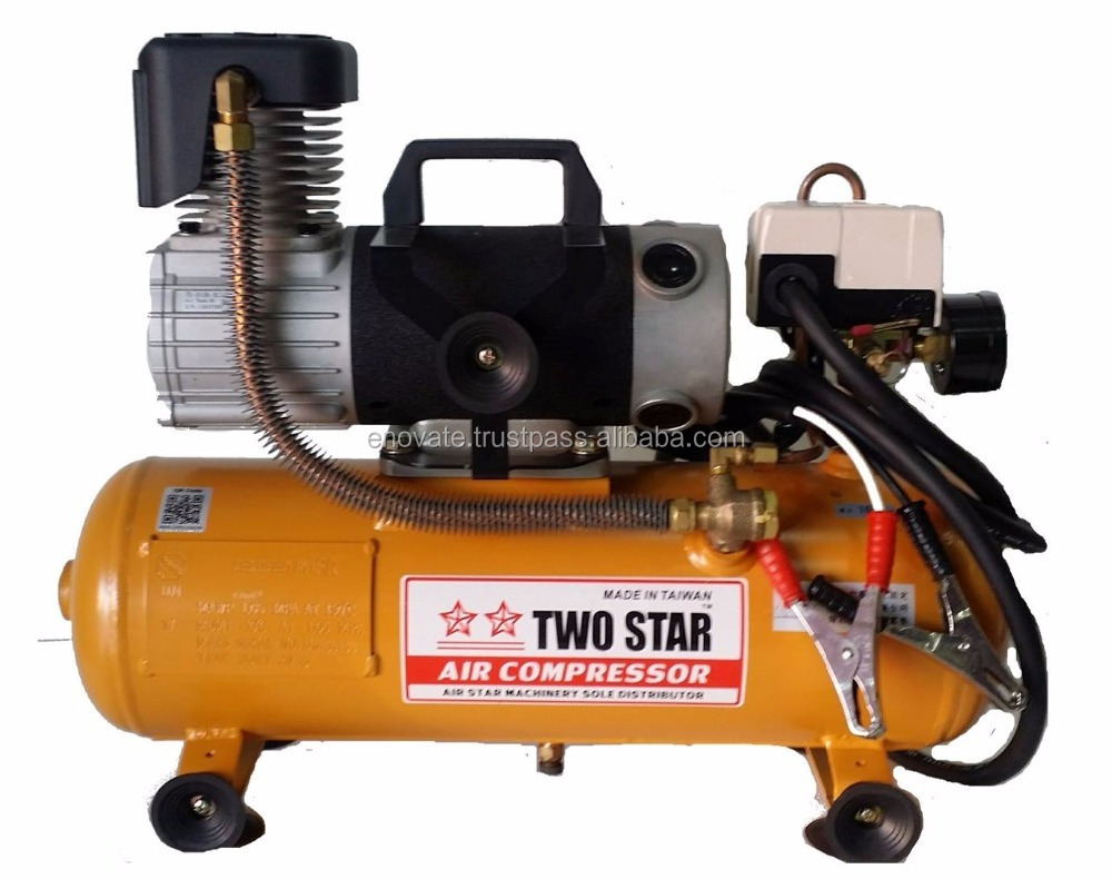 Manufacturer Price Taiwan Made 12V DC Oil Free Portable Mini Air Compressor with 8 liters tank