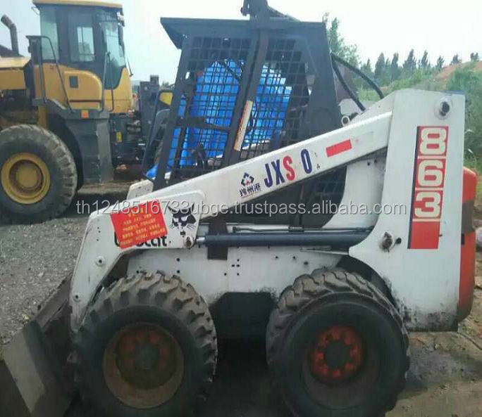 Well condition used Bobcat 863 mini skid loader, used bobcat skid loader 863
