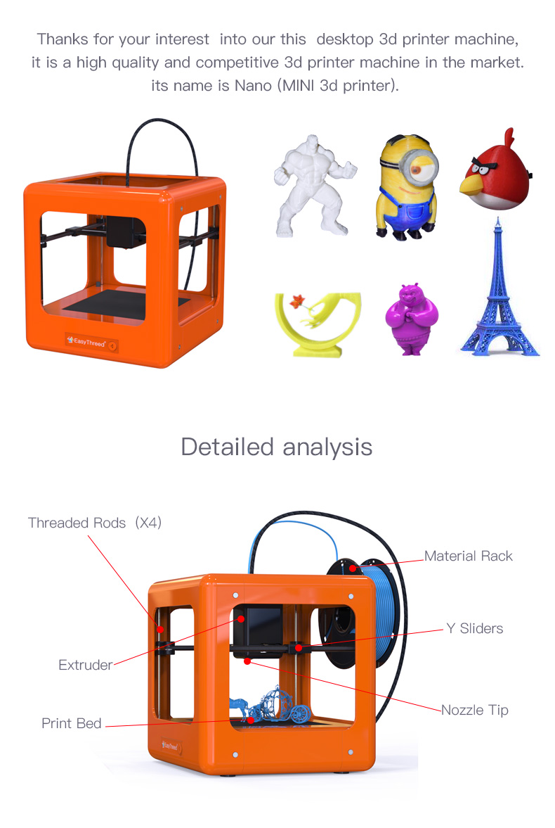 china bestselling toys mini 3d printer educational used for kids teenagers beginners