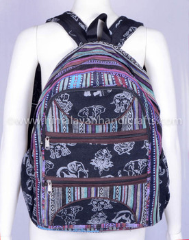Himalayan Highland Aztec Bohemian Hobo Multipurpose Hot selling Trendy Travel Tribal Canvas vintage Backpack HGBB 0237