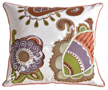 applique work cushion cover Cut Work 100% Cotton Pillow Case Wholesale Indian Cushion New Design Cushion Cover
