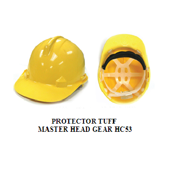 PROTECTOR TUFF MASTER HEAD GEAR HC53 / Yellow Safety Helmets / Made In Malaysia