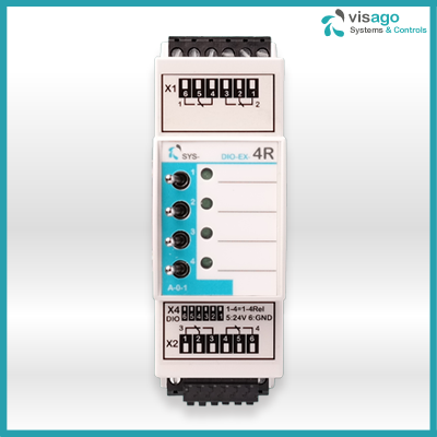 SYS-DIO-EX-4R 4 channel 10 Ah inrush relays for any PLC