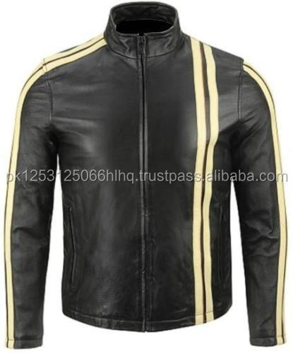 Best Quality Fashion Design Men Leather Motorbike Jacket
