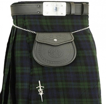 New Black Watch Tartan kilt 8 Yard Casual Mens Kilt