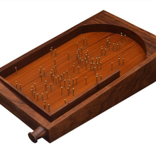 Wooden Pinball Bagatelle Game with Vintage Look for family Kids Friends Includes Chrome Steel