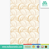Nerium Beige Color Floral Motif Size 25x40 for Best Home Cheap and Glossy Surface Ceramic Wall Tile