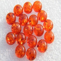 Synthetic Amber Round Cabochon~ Round Shape Cabochons