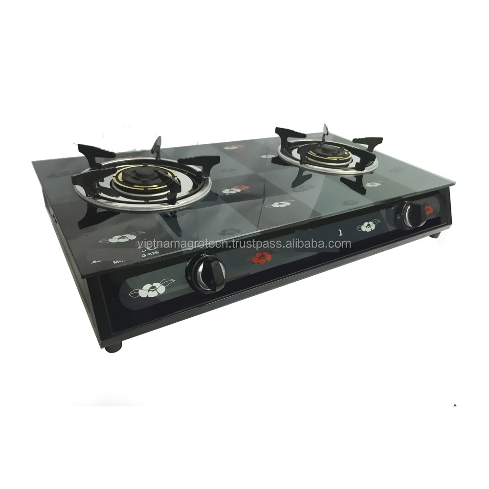 VIETNAM HIGH QUALITY TWO BURNER GAS STOVES - TEMPERED GLASS