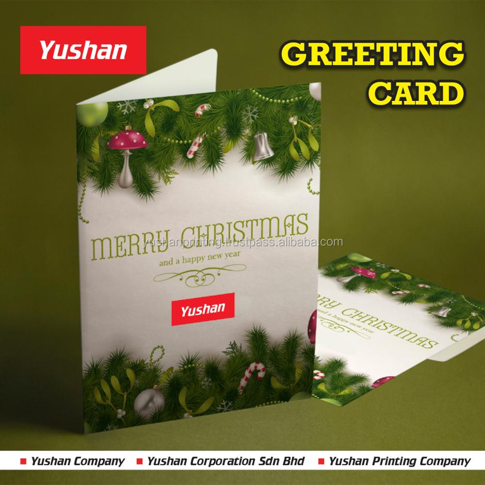 Seasonal Greeting Card, Christmas Greeting Card, New Year Greeting Card Printing at high quality