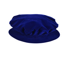 Elegance of Academia Tudor Bonnet with Tassel Royal Blue