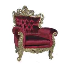 Best Quality Luxury French Red Sofa Wedding Furniture