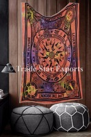 Tie Dye Art Inspirational Quotes Cotton Fabric Wall decor Indian Tapestry Wall Hangings