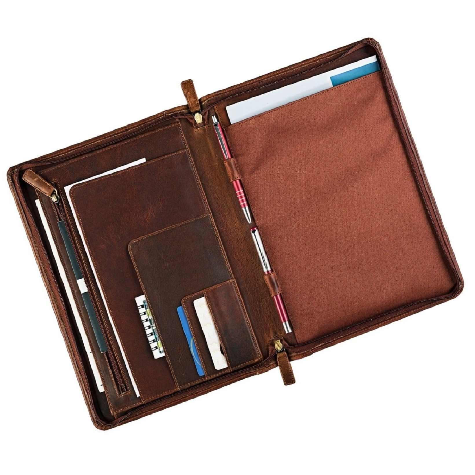 Conference Folder Portfolio A/4 Genuine Leather Premium Quality Multifunctional