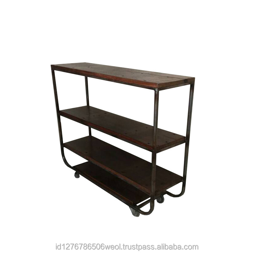Industrial Display Rack with Wood Board Made in Indonesia Products
