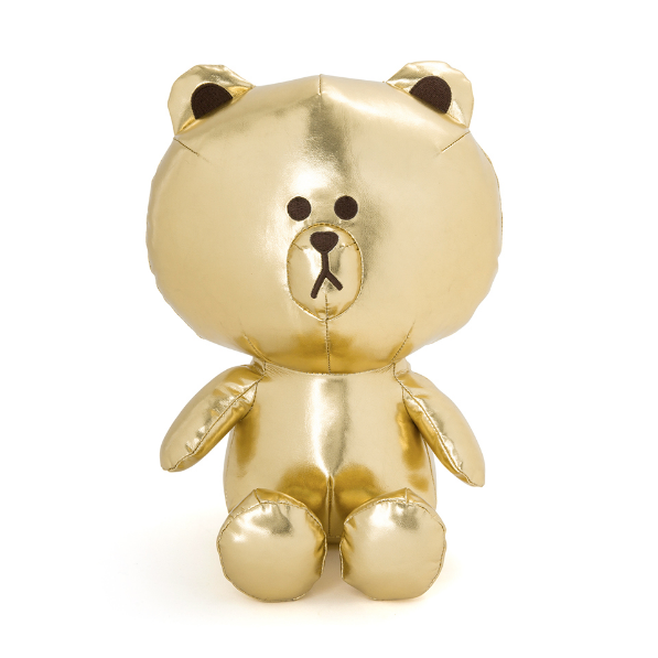 Line Friends Gold Brown Doll Cute Doll Soft Toy
