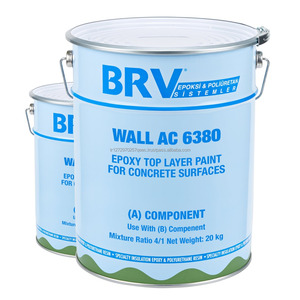 Epoxy Top Layer Paint for Concrete Surfaces with Two-components and Solvent