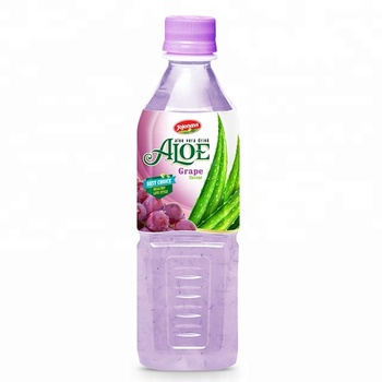 Fruit juices Aloe vera products export Aloe vera drink with Grape flavour in PET Bottle 500ml