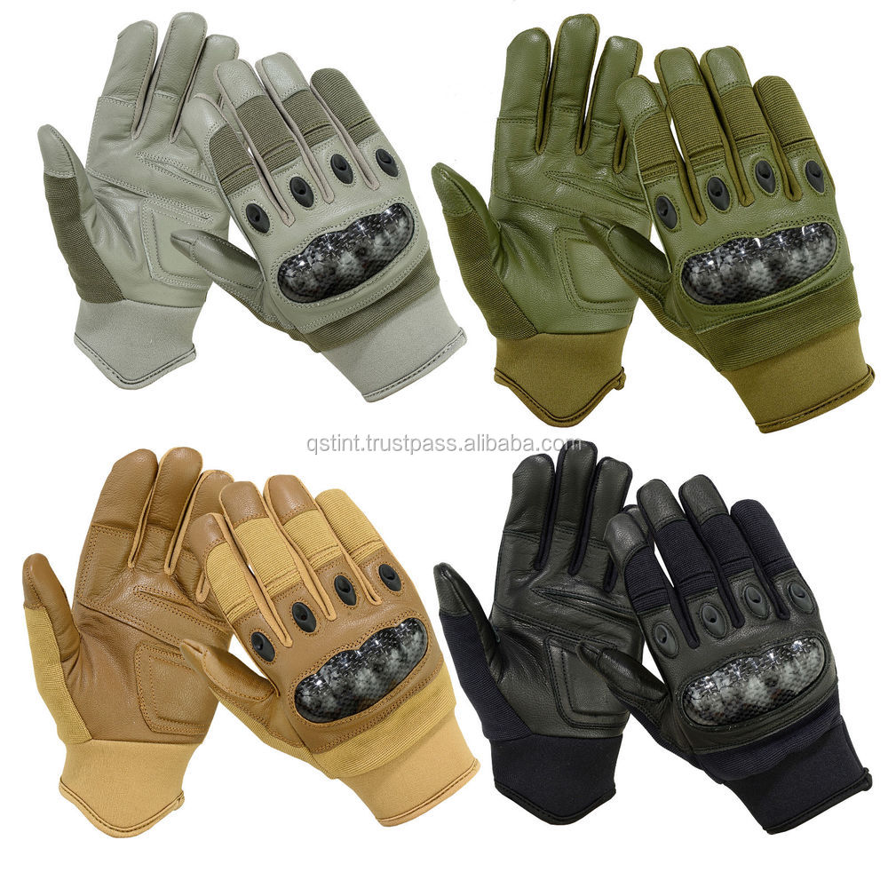 TACTICAL COMBAT PATROL HARD KNUCKLE SHOOTING GLOVES ARMY POLICE AIRSOFT