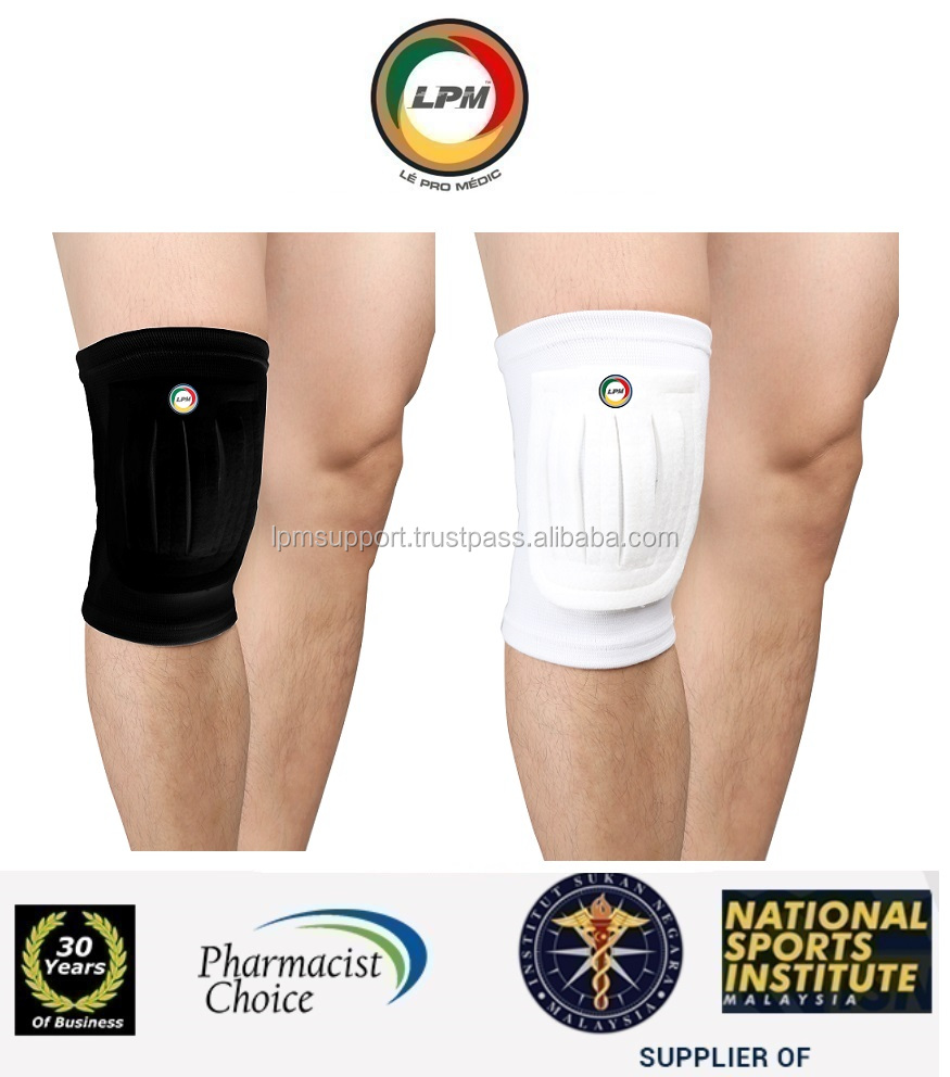 LPM(Pharmacist,National Sports) Knee Guard Padding Elastic Knitted Sleeve Compression Brace Support Protect