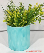 BLUE DECORATIVE FLOWER POT, PLANTER,DECORATIVE VASE