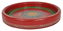 Decorative Hand Painted Coffee Breakfast Fast Food Cheap Supplier Indian Serving Tray Wooden