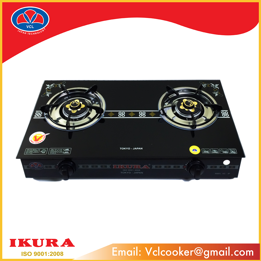 GAS STOVE 2 BURNER COOKTOP LUXURY DESIGN MODEL VCL - 8P