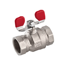 Full Bore Brass Ball Valve with Butterfly Handle 3/4""