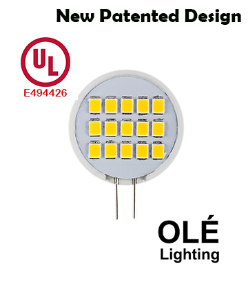 UL Listed LED G8 120v 1.6W Side Pin light bulb