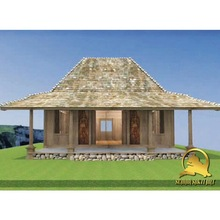 Cheap wood prefabricated house and villa with Indonesian Carved Wood Interior