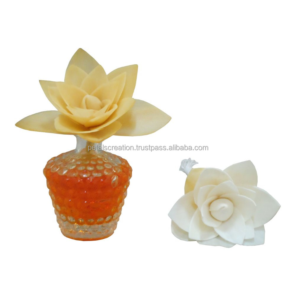 Suitable for mother day, restaurant, party sola wood flower with cotton wick