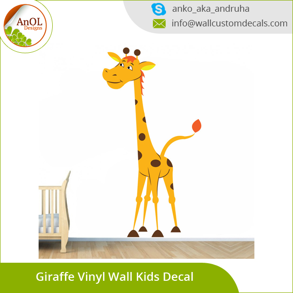 Wholesale Wall Sticker Home Decor Vinyl Giraffe Wall Decals for Kids