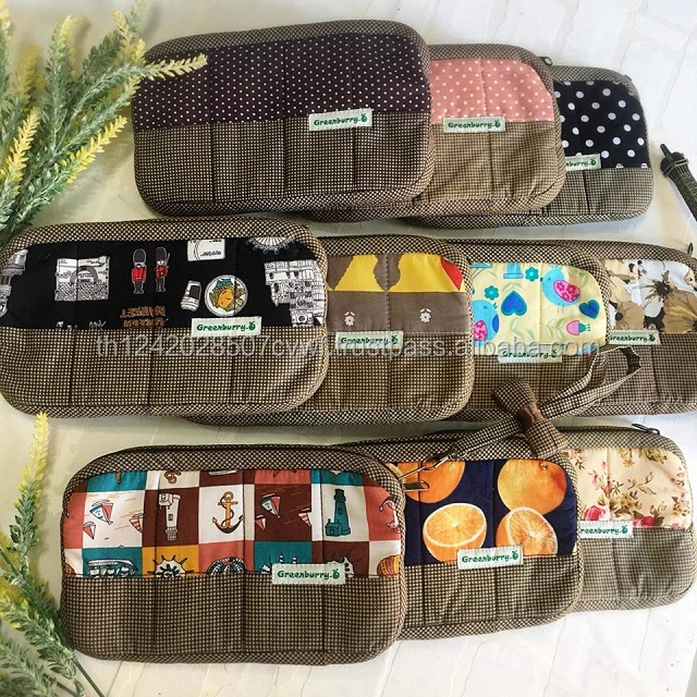 Factory cheap cotton fabric smart mobile phone bag handmade