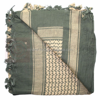 Scarf Wrap 100 % Cotton Customized Military Shemagh Arab Tactical Desert Shemagh KeffIyeh