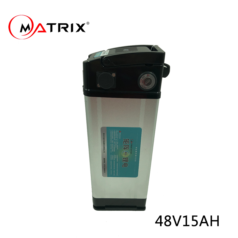 lithium battery e-bike e-scooter 48V 15Ah lithium ceramic battery suit for electric bike 100w 250w 300w 500w 750w 1000w