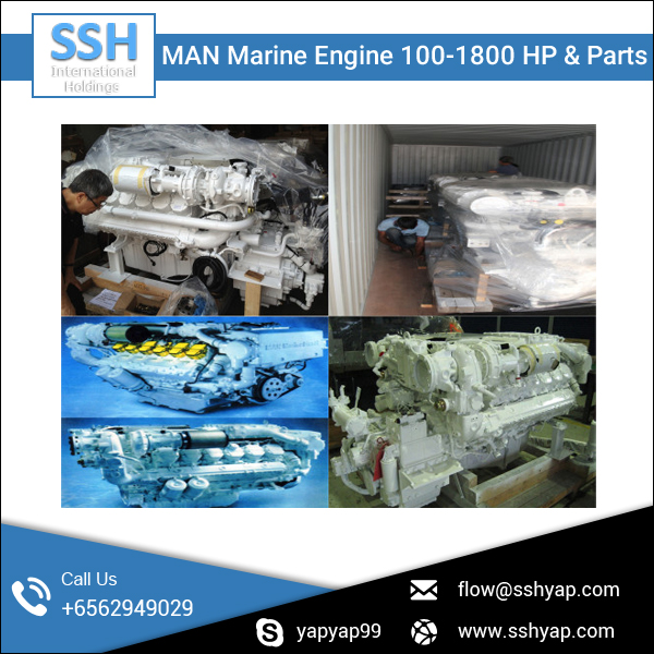 Brand New MAN Marine Engine 100-1800 HP & Parts