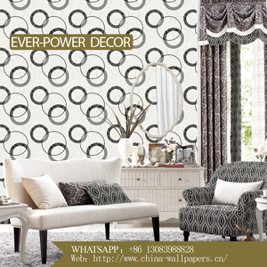 New Design Modern Style Wallpaper with PVC wall paper for home decoration