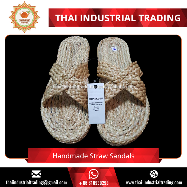 Wholesale Hot Selling Ladies Slipper Straw Sandal Shoes 2017 Original products from Thailand