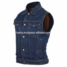 Men's Blue Denim Jean Vest