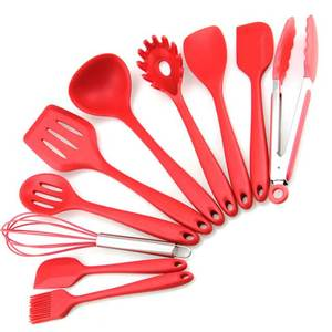 Silicone Kitchen Utensil 10 Piece Cooking Set