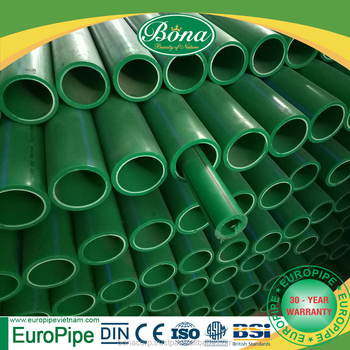 [EUROPIPE] water supply purpose Ppr pipes sizes chart with PN8 and PP raw materials