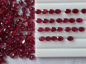 Natural oval cut wholesale Ruby stone MM size