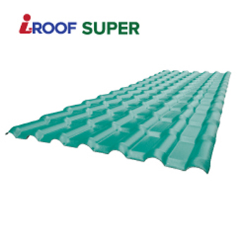 3 Layers Spanish Roofing Sheets with excellent quality /ASA PVC Plastic roofing tile